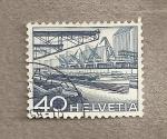 Stamps Switzerland -  Puerto en el Rhin