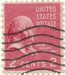 Stamps United States -  John Adams 1938 2¢