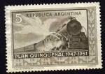 Stamps Argentina -  Plan quinquenal  FERROCARRILES