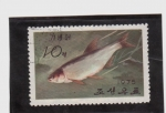 Stamps Asia - North Korea -  fauna acuatica