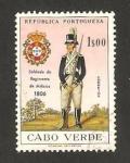 Sellos del Mundo : Africa : Cabo_Verde : uniformes militares, soldado del regimiento de milicias