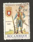 Sellos del Mundo : Africa : Mozambique : uniformes militares, arcabucero