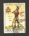 Sellos del Mundo : Africa : Mozambique : uniformes militares, músico