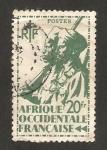 Sellos del Mundo : Africa : Senegal : África occidental francesa, fusilero senegales