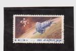 Stamps Asia - North Korea -  satelite lanzado en 1964