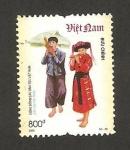 Sellos del Mundo : Asia : Vietnam : traje típico de pa then