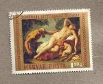 Stamps Hungary -  Venus y sátiro por Sebastián Ricci
