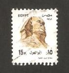 Sellos de Africa - Egipto -  esfinge de guiza