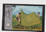 Stamps Asia - Oman -  movimiento scout-jambori 71