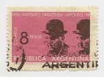 Stamps Argentina -  Hipólito Yrigoyen