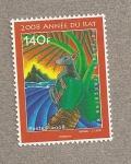 Stamps Oceania - Polynesia -  Año  chino de la rata