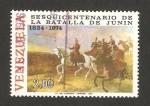 Stamps : America : Venezuela :  150 anivº de la batalla de Junin