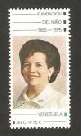 Stamps America - Venezuela -  10 anivº de la fundación del niño, carmen america fernandez de leoni