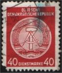 Stamps Europe - Germany -  Escudo de la DDR