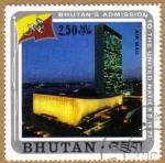 Sellos de Asia - Bhután -  Admision Naciones Unidas