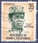 Stamps Africa - Equatorial Guinea -  GUINEA EC Obiang Nguema Mbasogo 35