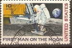 Stamps United States -  PRIMER  HOMBRE  SOBRE  LA  LUNA