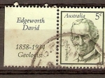 Sellos de Oceania - Australia -  EDGEWORTH  DAVID