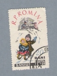 Stamps Romania -  Niños en la nieve