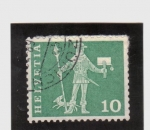 Stamps America - Switzerland -  mensajero a pie