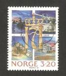 Stamps Norway -  50 anivº de la invasión nazi a noruega
