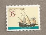 Sellos de Europa - Portugal -  Caravela soglo XVI