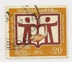 Stamps Sri Lanka -  International Book Year
