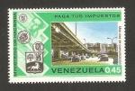 Stamps : America : Venezuela :  paga tus impuestos, mas vías de comunicación