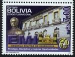 Stamps America - Bolivia -  LX Aniversario de la Escuela Militar de Ingenieria