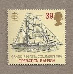 Stamps United Kingdom -  Regata Colón 1992