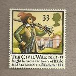 Sellos de Europa - Reino Unido -  Guerra civil 1642-51