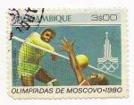 Stamps Mozambique -  Olimpíadas de Moscovo-1980