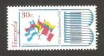 Stamps : America : Venezuela :  II centº del nacimiento de simón bolívar, banderas de países de América del Sur