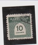Sellos del Mundo : Africa : Marruecos : correo postal-protectorado español
