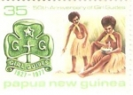 Stamps Oceania - Papua New Guinea -  50TH ANNIVERSARY OF GIRL GUIDES