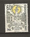 Stamps Czechoslovakia -  1200 Aniversario de la Fundacion Teptice Spa.