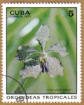 Stamps : America : Cuba :  Orquideas tropicales