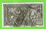 Sellos de Europa - España -  Arqueta de Carlomagno, Aquisgran (Alemania)