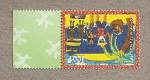 Stamps Oceania - Polynesia -  Pareja en la playa