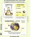 Stamps Honduras -  50  ANIVERSARIO  DEL  SPUTNIK