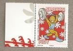 Stamps Oceania - Polynesia -  Levantamiento pesas