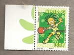 Stamps Oceania - Polynesia -  Ping pong