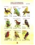Stamps America - Colombia -  AVES  EN  PELIGRO  DE  EXTINCIÓN