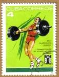 Stamps Cuba -  Campeonato Mundial Pesas