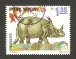 Stamps Poland -  animales prehistoricos, styracosaurus
