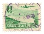 Stamps Ecuador -  Laguna de San Pablo