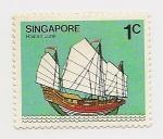 Stamps Asia - Singapore -  Barcos (Hainan Junk)