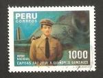 Stamps America - Peru -  capitán de aviación jose a. quiñones gonzales