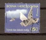 Sellos de Europa - Bosnia Herzegovina -  LIBERTAD  DE  PRENSA