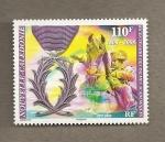 Stamps Oceania - New Caledonia -  Bicentenario de las palmas académicas
